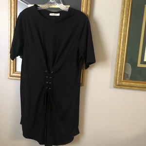 corset waist t-shirt dress